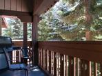 Private patio with BBQ Whistler Sunpath rentals