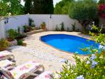 Peaceful, tranquil, secluded garden and patio area, leading from terrace.