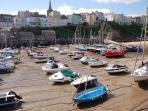 Tenby house rental - Picturesque Tenby harbour just a short stroll from Woodbine Cottage