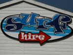 Nick Thorne surf hire and school on the beach