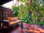 Riverside Master Suite Deck at Villa Tukad Pangi