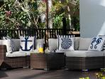 Comfortable outdoor seating area