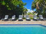Relaxing Poolside Lounge Chairs...