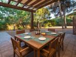 Rear Veranda with big BBQ Area of Villa I Pini