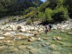 la rivière esteron Esteron river