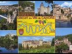 Famous Cahors wine route, Puy L'Eveque is on the top right hand side.