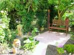 Guests own secluded courtyard.