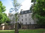 The apartment from Greyfriars churchyard