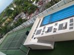 Modern apartment: work & play, swim, train