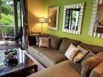 Wonderfully Comfy large sectional with Lanai View