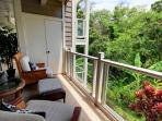 Lush Tropical Garden View from this second floor condo