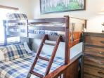 A ground level Bear Lake guest bedroom