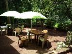 Open air dining area for breakfast and dinner.