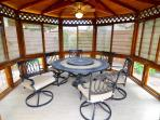 Outdoor gazebo for your morning coffee and evening gatherings