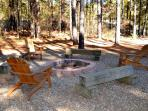 Enjoy family time at the fire-pit.  Firewood provided Oct. to March.