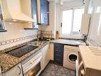 Kitchen with halogen hob, oven, micro, etc