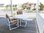 Dine outdoors or relax in the shade on the main level deck.