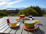 Breakfast on the deck on a perfect morning
