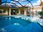 Beautiful lanai with solar heated pool