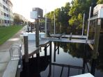 Boat lift for rent, holds up to 26' 10,000lb boat.  Sailboat access to gulf.
