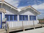 cabane bleue au port d' AUDENGE à 5 minutes de Lanton