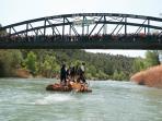 Las tradicionales nabatas en el río Gállego
