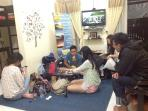 Guests on living room before Bromo Sunrise Tour