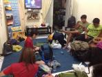 Guests on living room before Semeru Trekking