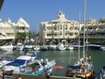 Puerto Marina, area with lot of social life, bars, restaurants, boat rental and more