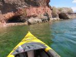 Kayaking Lake Mohave