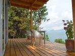 hardwood deck overlooking 5105ft. high located lake