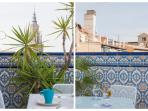 detalles de y desde la terraza