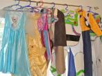 Small selections of the numerous Disney dressing-up clothes