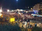 Fiesta on Fisherman´s beach in september