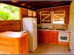 terrasse et coin-cuisine