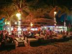 The beach club by night, great fun!