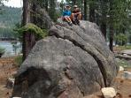Granite boulders in Donner Memorial State Park, one block from Donner Lake Vacation Rental