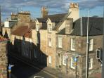 View from master bedroom towards south castle street and the sea...