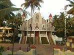 Church opposite the house