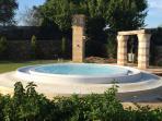 Vista sulla mini piscina privata