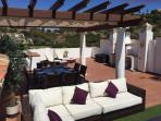 Roof terrace with panoramic views
