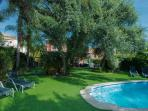 400 sqm garden with 7x3 meters pool and fantastic and unique corck trees
