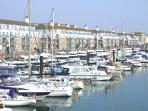 Sea Fizz is located in the tranquil setting of Brighton Marina, away from the hustle and bustle.