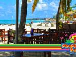 Moomba is a great spot to enjoy lunch or dinner right on the beach