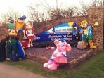 Main Entrance to Haven Holiday Village..With the Haven Characters waiting for your arrival....