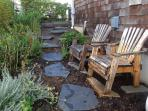 Garden seating, and another wind break.