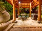 Baan Surin Sawan - Outdoor dining pavilion