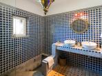 Moroccan style en-suite bathroom to master bedroom