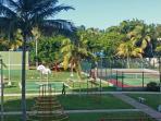 Tenis court and playground