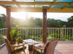 Sip a beer/tea on the deck at sunset.